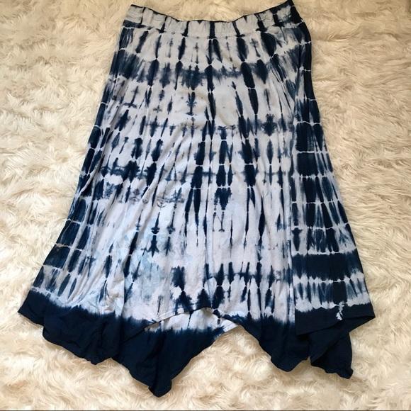 0678170c0b9 Avenue Dresses   Skirts - PLUS SIZE 18 20 NAVY WHITE MAXI SKIRT TIE DYE